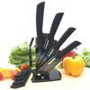 6pcs black handle black blade ceramic knife set