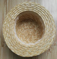 High Quality Wheat Straw Woven Boater Hat
