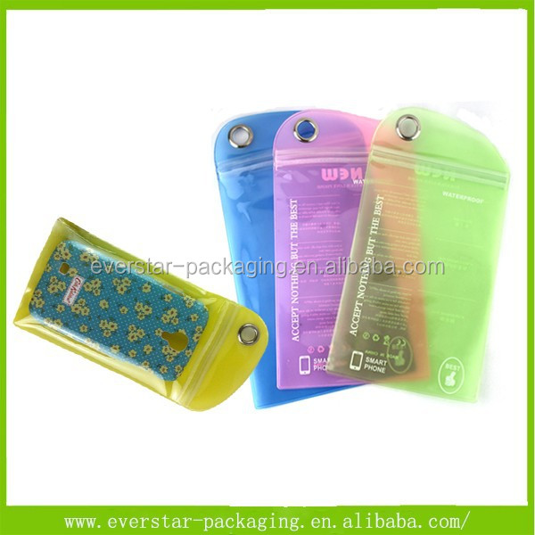 Free Sample OEM Order Ziplock PVC Packing Bag For Cell Phone Case