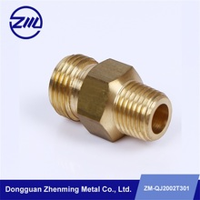 Customized Brass pipe connector fitting copper Auto machine parts