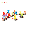 colorful and fancy wooden number train wooden pulling train toy