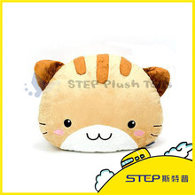 Best Made Stuffed Plush Animal Shape Cute Cat 100% Polyester Indoor and Outdoor Cushion & Pillow for Car/ Sofa