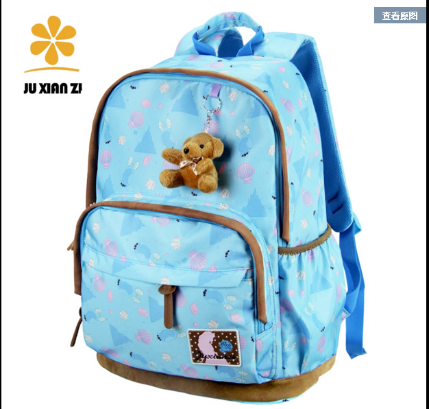 Fashionable pattern design lightweight cute girl backpack bag school backpack