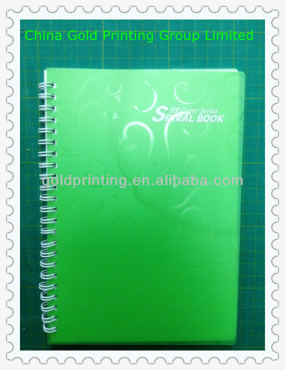 Promotional notebook with plastic cover