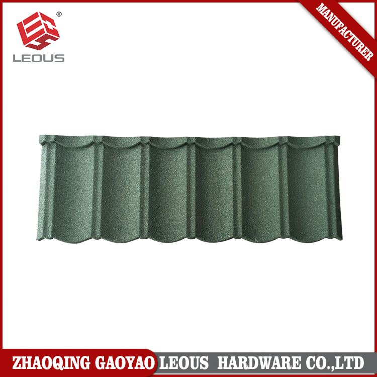 Easy installation colorful sand stone coated roofing metal tile