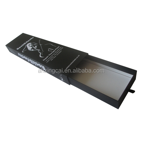 Black Matte Paper Cardboard Hair Packaging Boxes