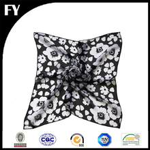 Factory direct wholesale custom digital printed 100 silk satin square scarf