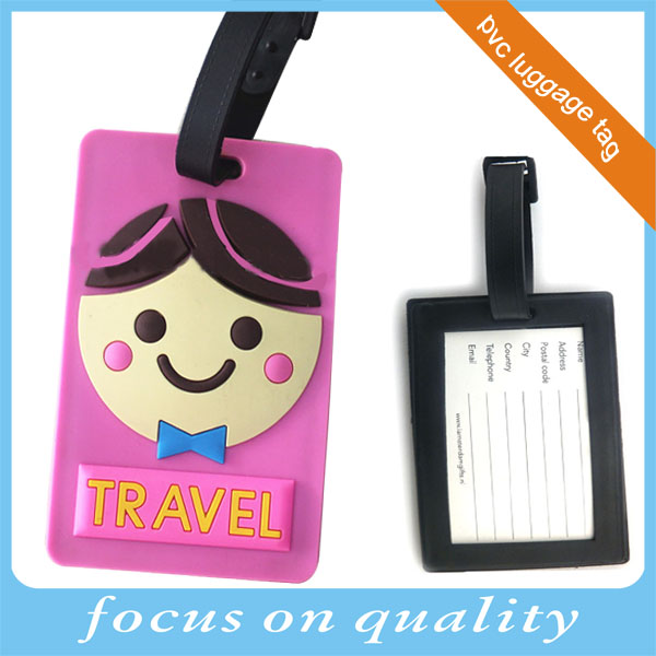 high quality micro injection non breakable 3d soft pvc printing rubber plastic hanging tag