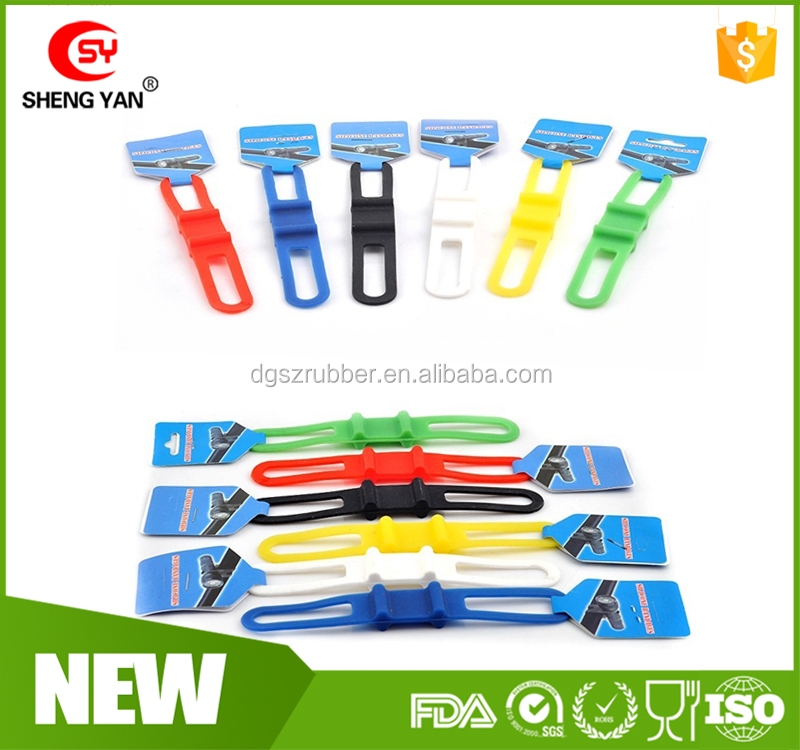 Elastic Bike Silicone Strap Bandages Durable Bicycle Silicone Tie Straps
