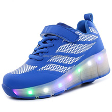 Fashion blinking shoes Led roller shoes trainers for children roller skates