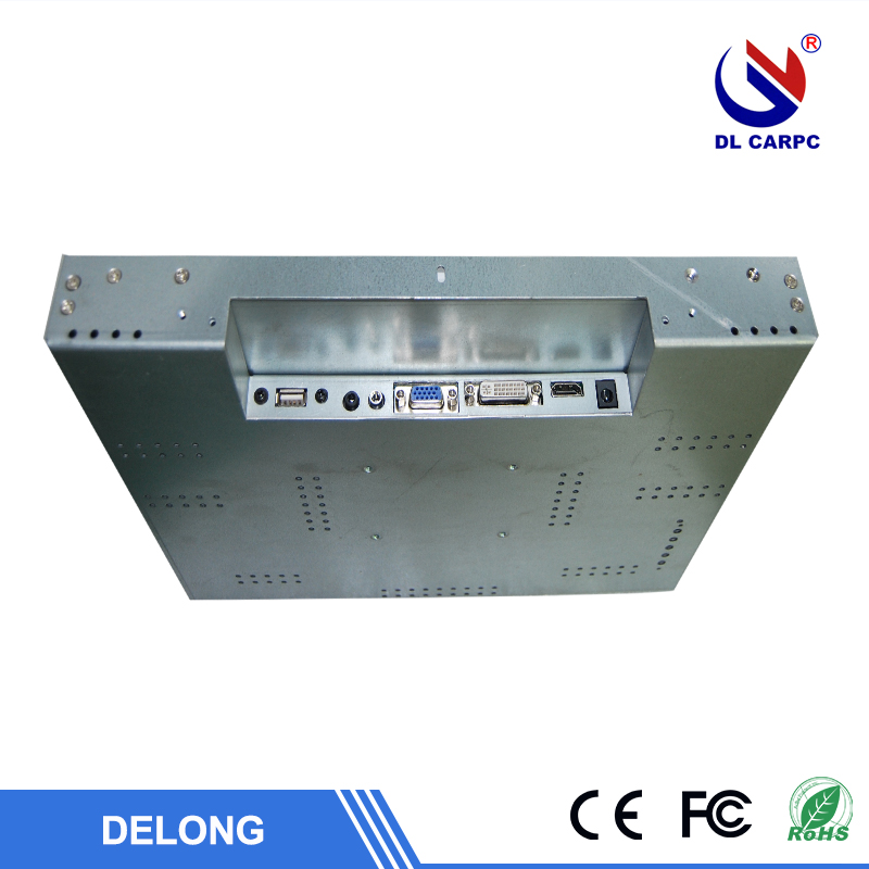 "10.4"",12.1"",15"",17.3"",19"" 1280*1024 industrial embedded monitor Aluminum Alloy Case with DVI VGA input"