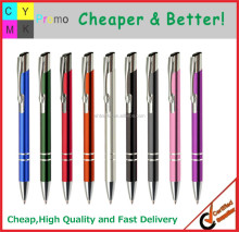 Aluminum barrel logo printed barrel color customized promotional metal pen