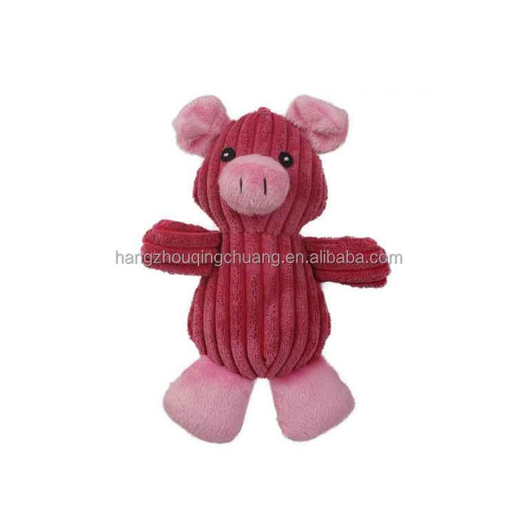 Cartoon red pig and fly duck , dog chew toy set , dog toy with ringing function
