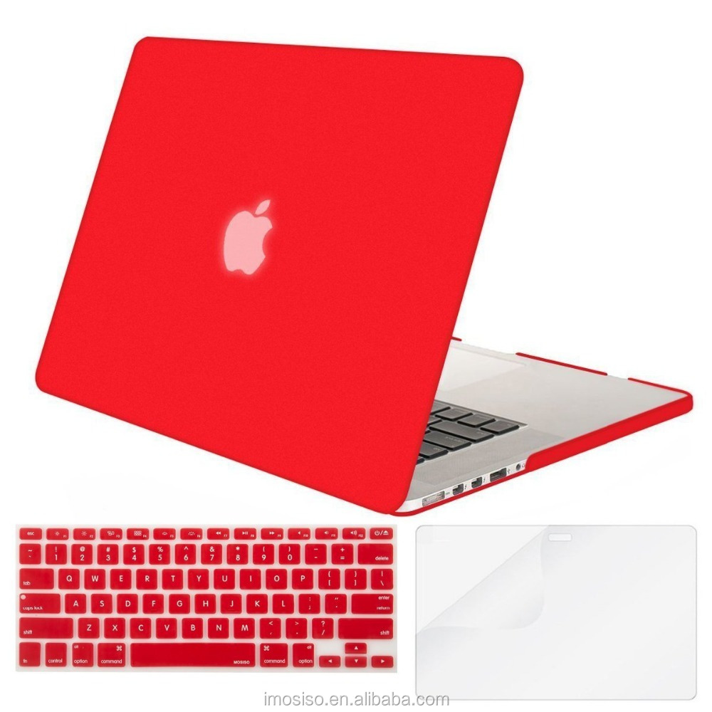 Red Color Mosiso men's laptop computer hard skin case new rubber skin case cover for laptop wholesale