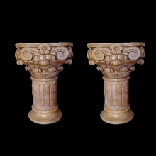Indoor decorative indian granite pedestal stands for flowers