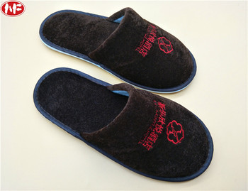 Customizing non-disposable hotel slippers to entertain guests