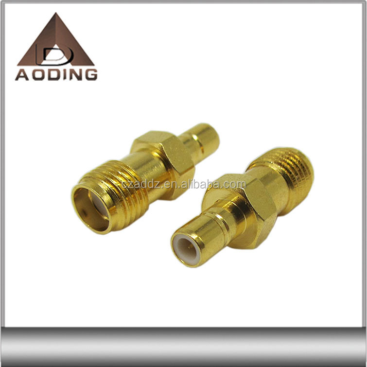 RF coaxial SMB male to SMA female straight crimp connector