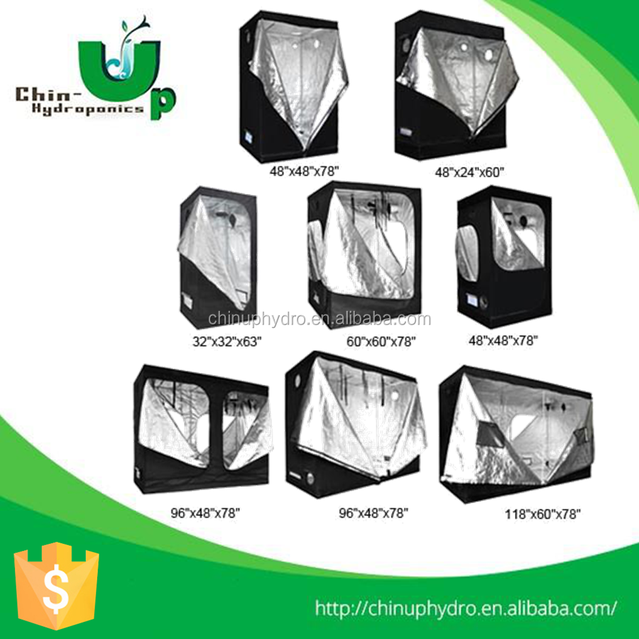 2016 Quality Assured grow tentage / superior material 600D Nylon Plastic corner waterproof grow tent
