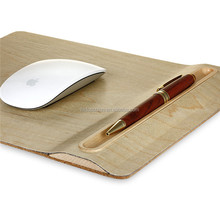 Natural wood mouse pad OEM mouse pad with pen holder, best quality SAMDI mouse pad/pat