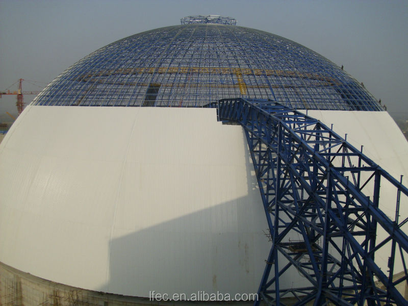 China Supplier Steel Space Frame Coal Yard for Power Plant Dome Metal Building