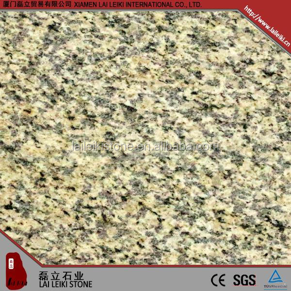 Simple design honed Tiger-yellow granite fireplace hearth slab