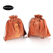 New production customized large velvet drawstring dust bag for handbag