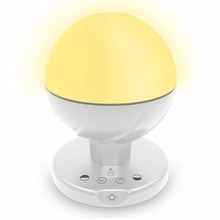 Dimmable baby care LED night light with yellow warm light and power bank charger