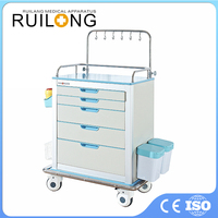 Simple Mobile Aluminum Steel Medical Hospital Cart
