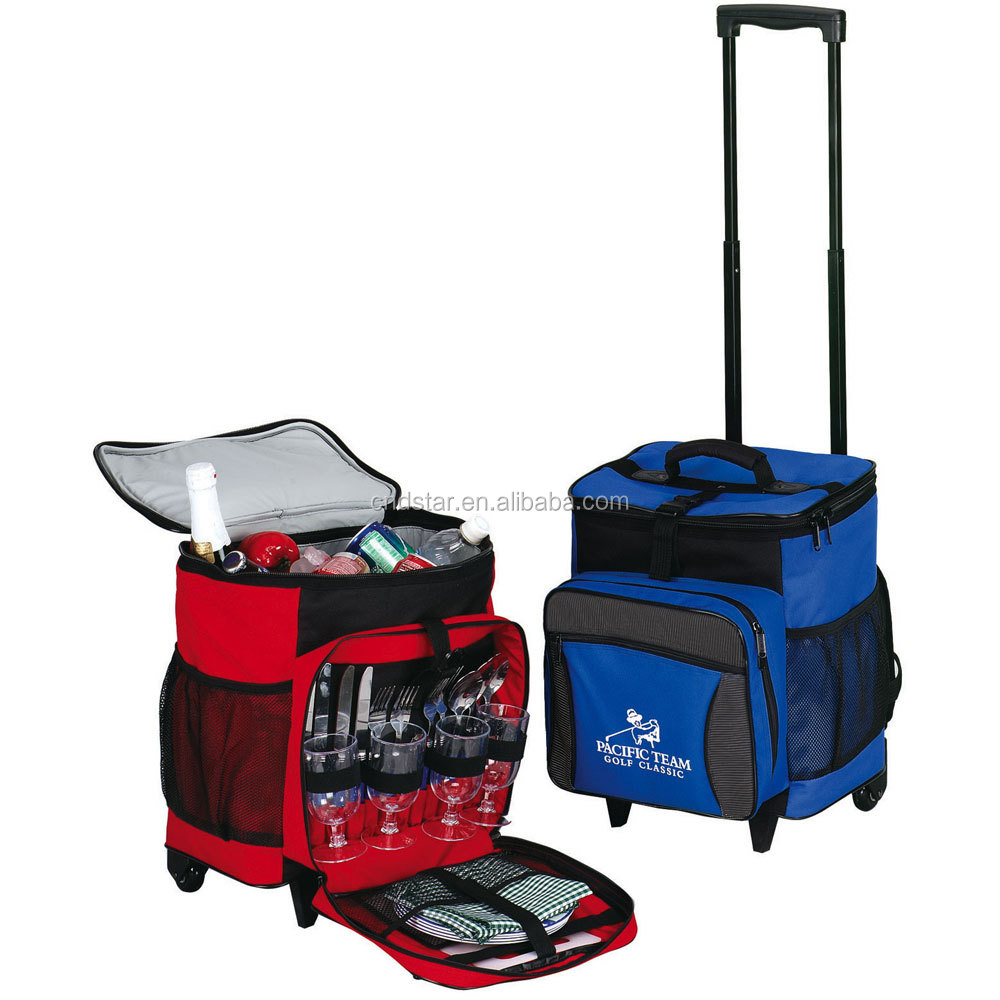 2016 36Cans Rolling Picnic Cooler Bag Large ice cooler bag