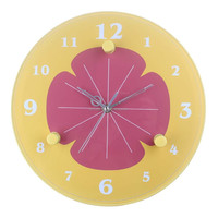 Art painting wall clock with special shape