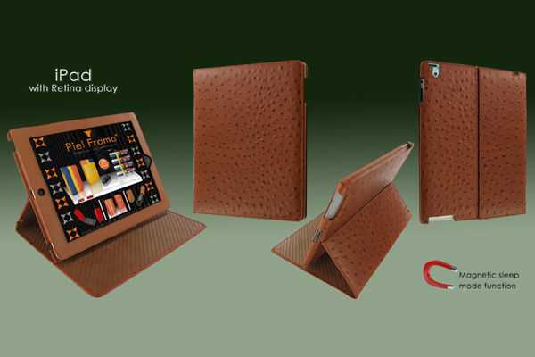 Cinema Ostrich Leather Case for iPad