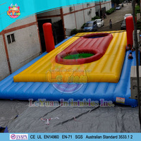 Inflatable Commercial Grade PVC Beach Volleyball Court, Inflatable Volleyball/Soccer Field