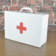 empty disaster first aid kits box