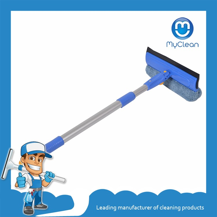 blue max 4 inch extendable rubber aluminum squeegee