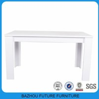 common high gloss L-shape legs dining table