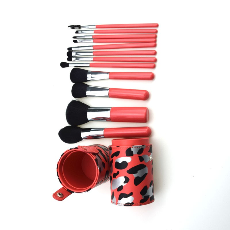 Factory directly hot selling 12pcs foundation cosmetic wholesale makeup brush with holder