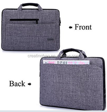 15.6-Inch Multi-functional Suit Fabric Portable Laptop Sleeve Case Bag for Laptop Tablet Notebook Grey