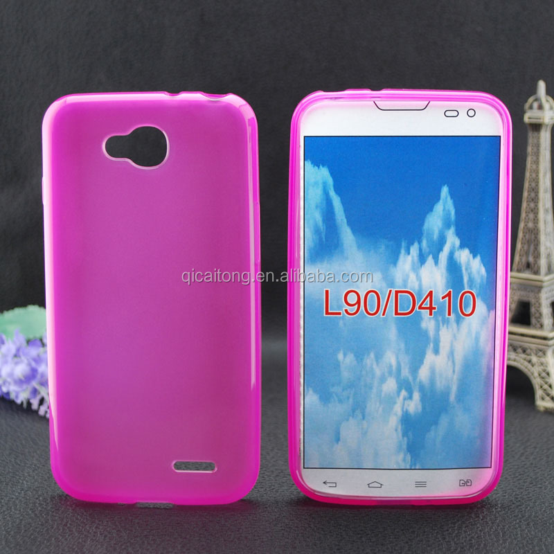 Matte inside clear outside cell phone tpu case for LG L90 D410