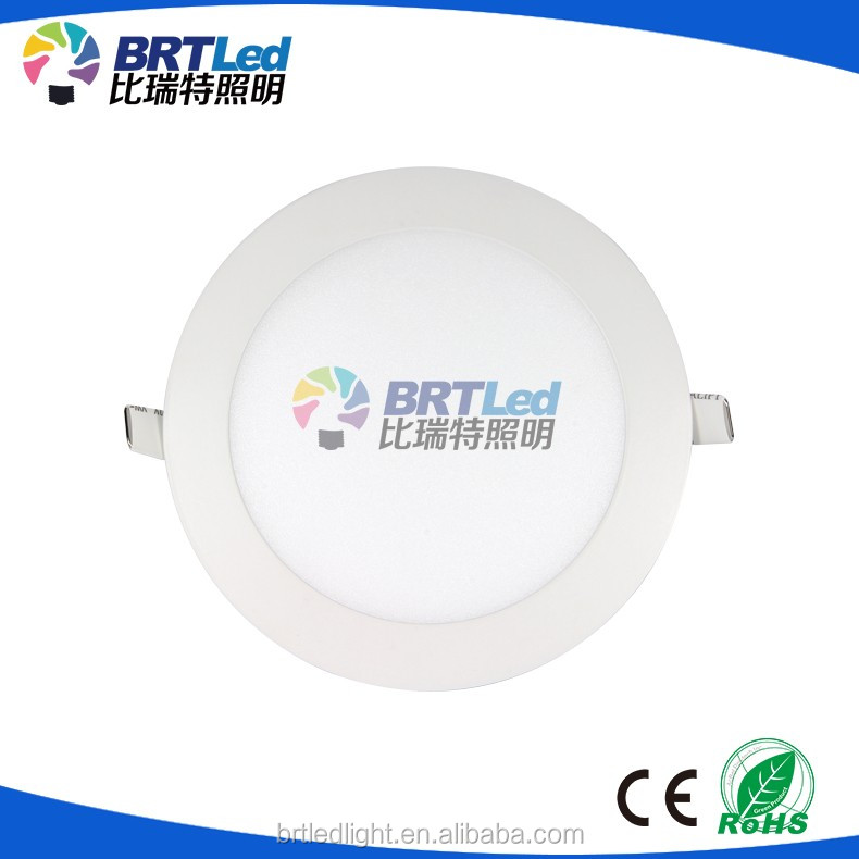 Ultra slim wall mounted led panel light 6w 12w 18w round led ceiling lamp