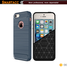 Carbon Fiber Armor Case Shock-absorbing Flexible TPU Protective Case Cover for iPhone 5s