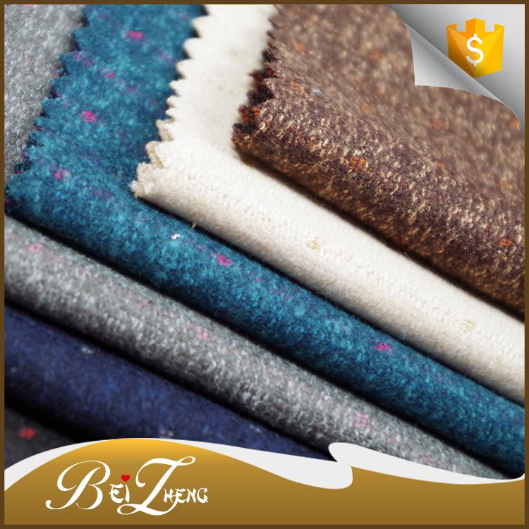 Wholesale high quality polyester yarn dyed melange brush fabric for sofa