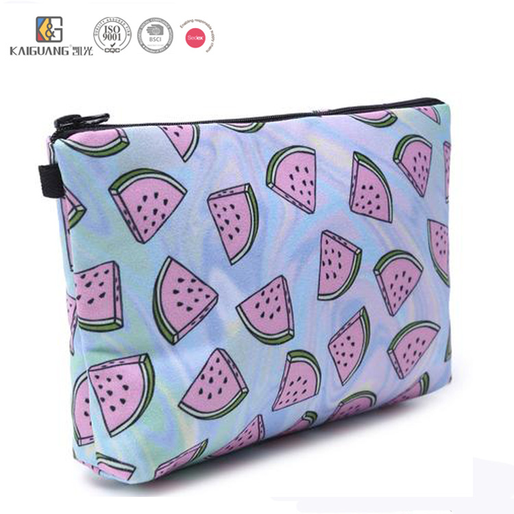 Top Quality Cheap Watermelon Print Casual Makeup Case