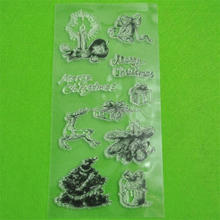 Wholesale new product promotion custom christmas clear stamp set