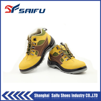 Nubuck leather steel toe shoes safety SF1802