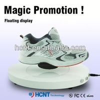 new invention ! magnetic levitating led display stand for shoe woman,ivory wedding shoes
