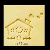 small house pattern custom made rubber soap stamp handmade acrylic soap stamp