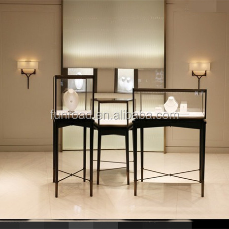 Used jewelry showcases for shop counter design for hot sale