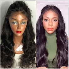 Unprocessed Virgin Brazilian Hair Body Wave Human Hair Wig Lace Front with Baby Hair