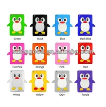 Penguin 3D Rubber Soft Silicone Skin Case Cover for iPad mini