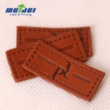 Fashion Design Denim Debossed Leather Patch Label